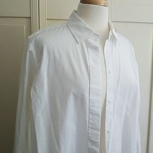 Lord and Taylor a-line white shirt 1x